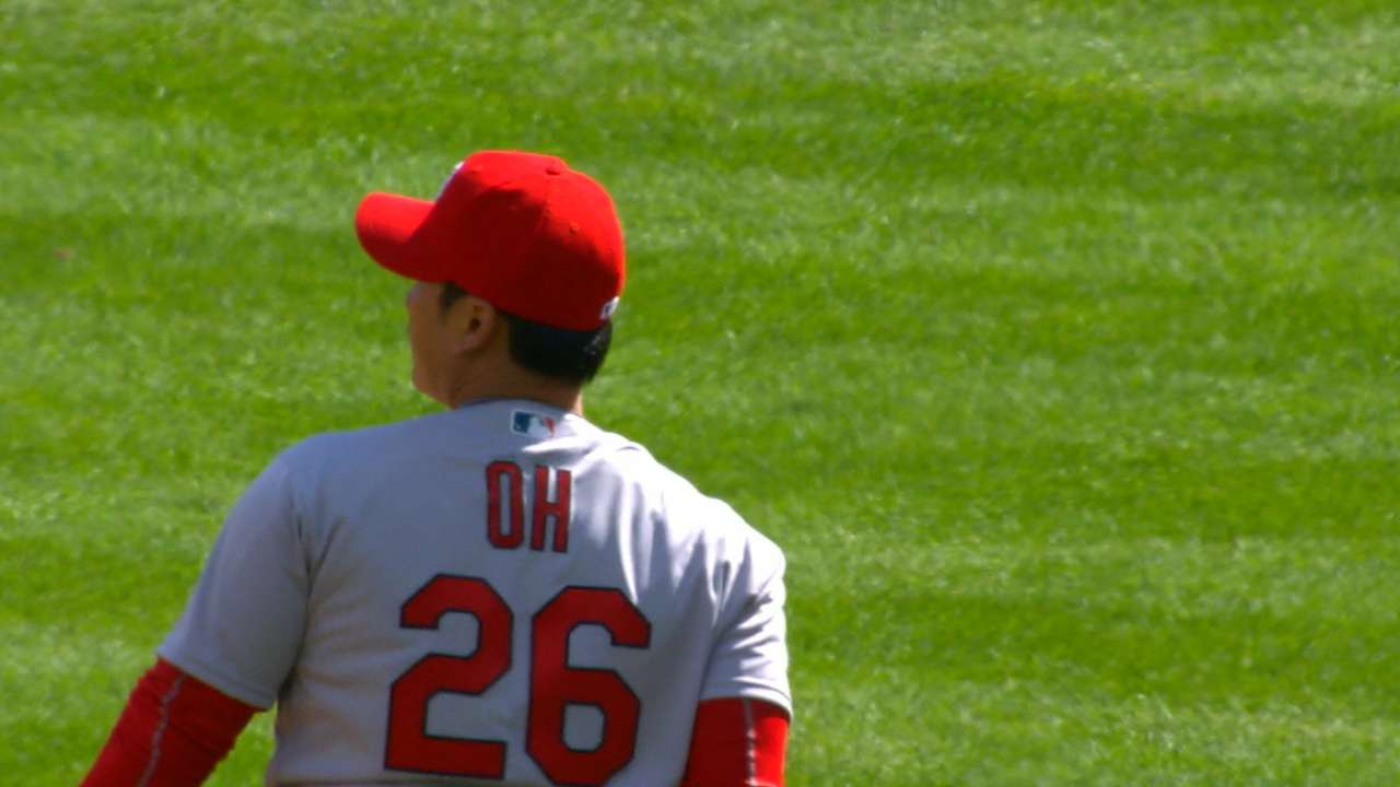 Oh's scoreless MLB debut