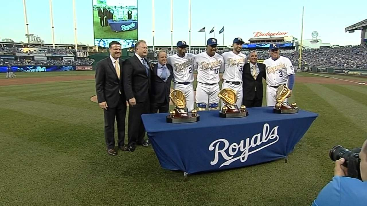 Royals receive Gold Gloves