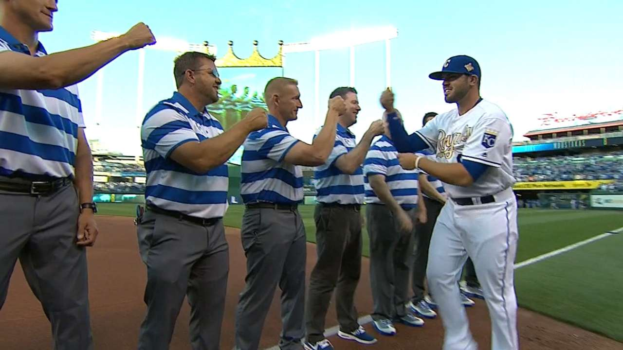 Royals starters are introduced