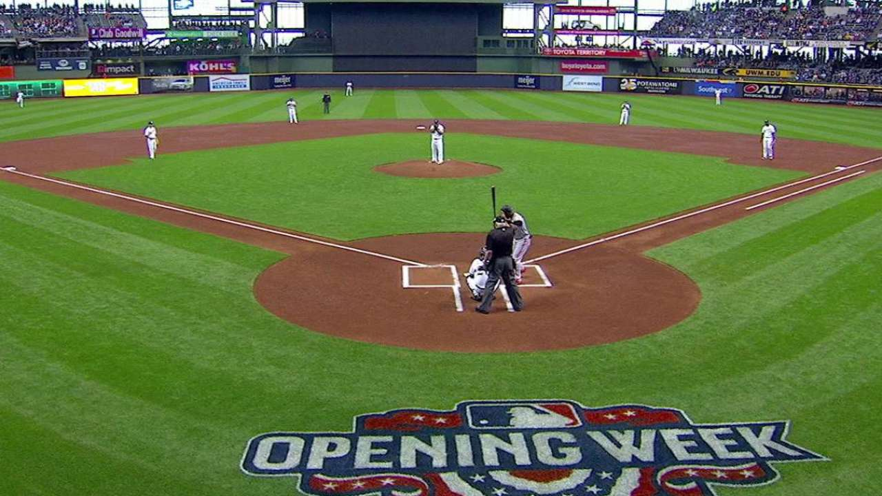 Peralta tosses first pitch