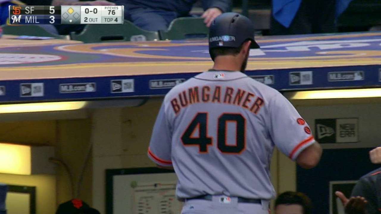 Giants, Brewers make history with lineups