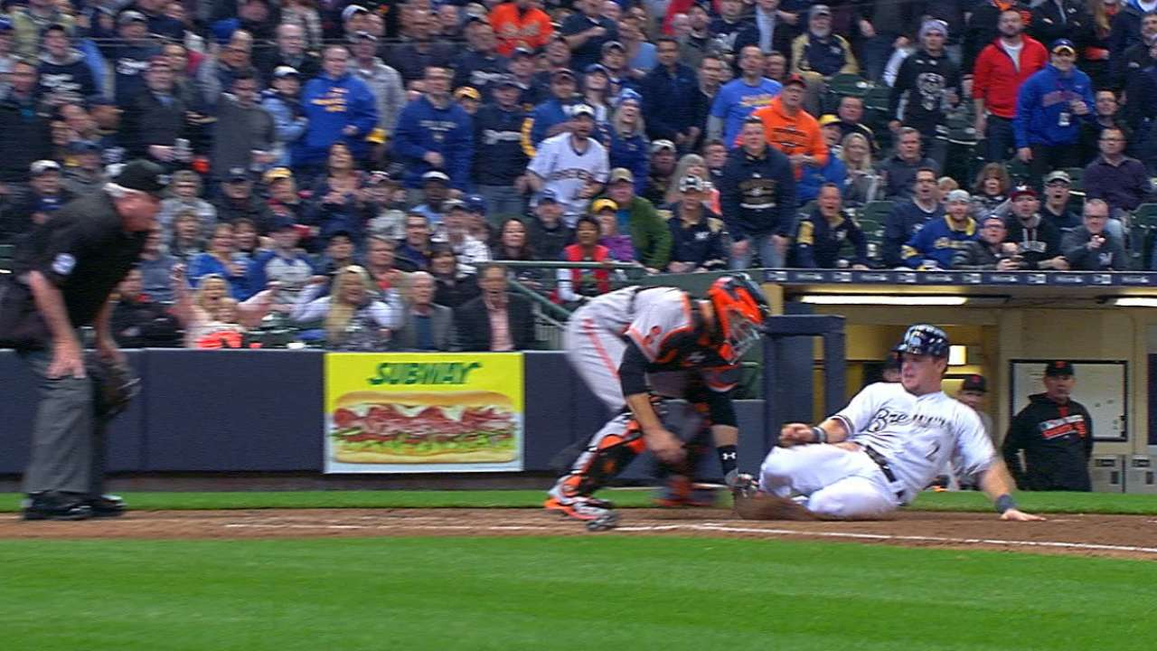 Pagan throws out Gennett at home