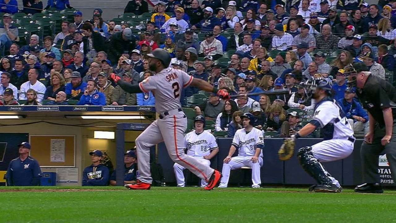Giants go batty to back Bumgarner in opener