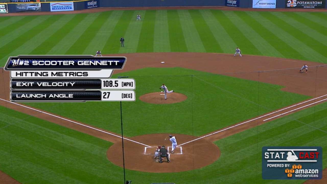 Statcast: Gennett's huge homer