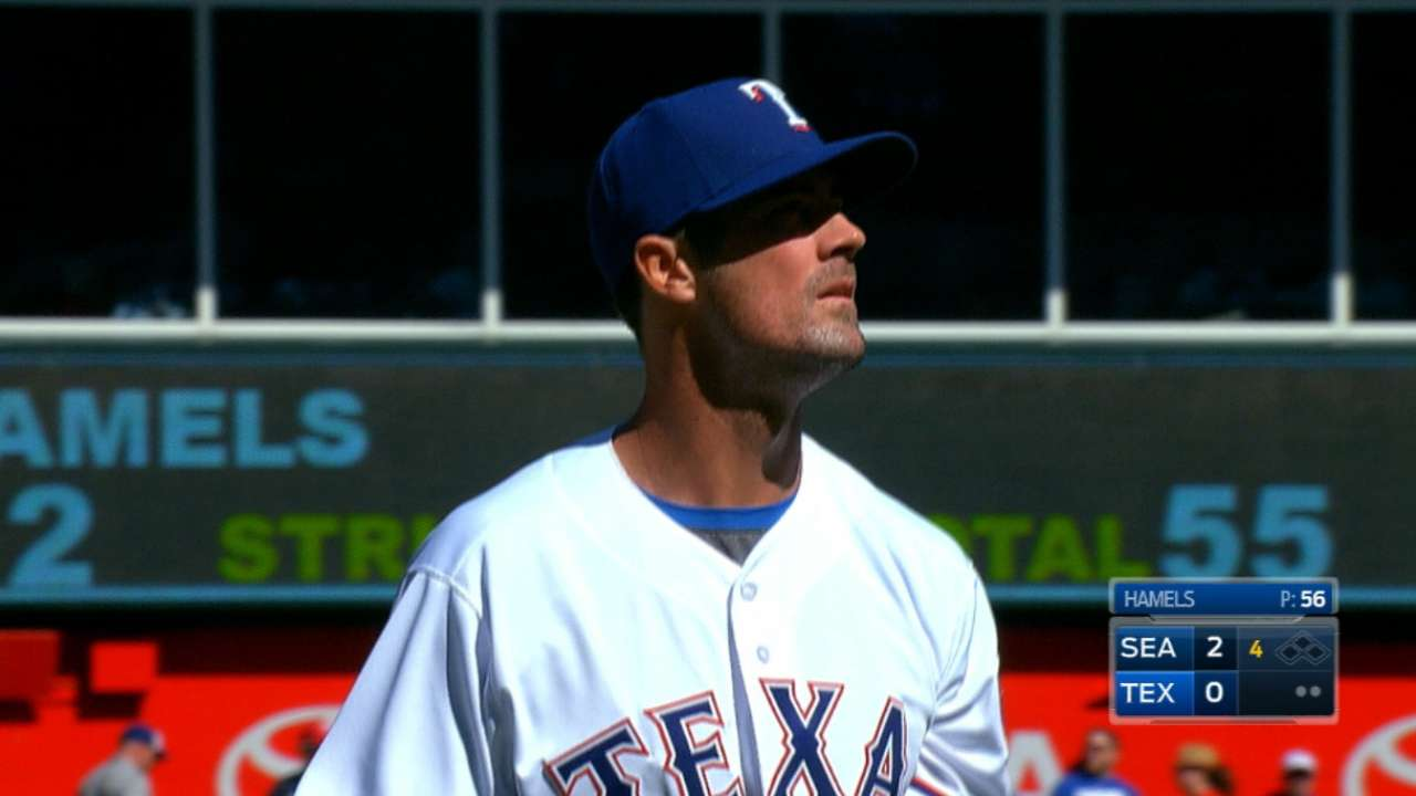 Hamels' eight strikeouts
