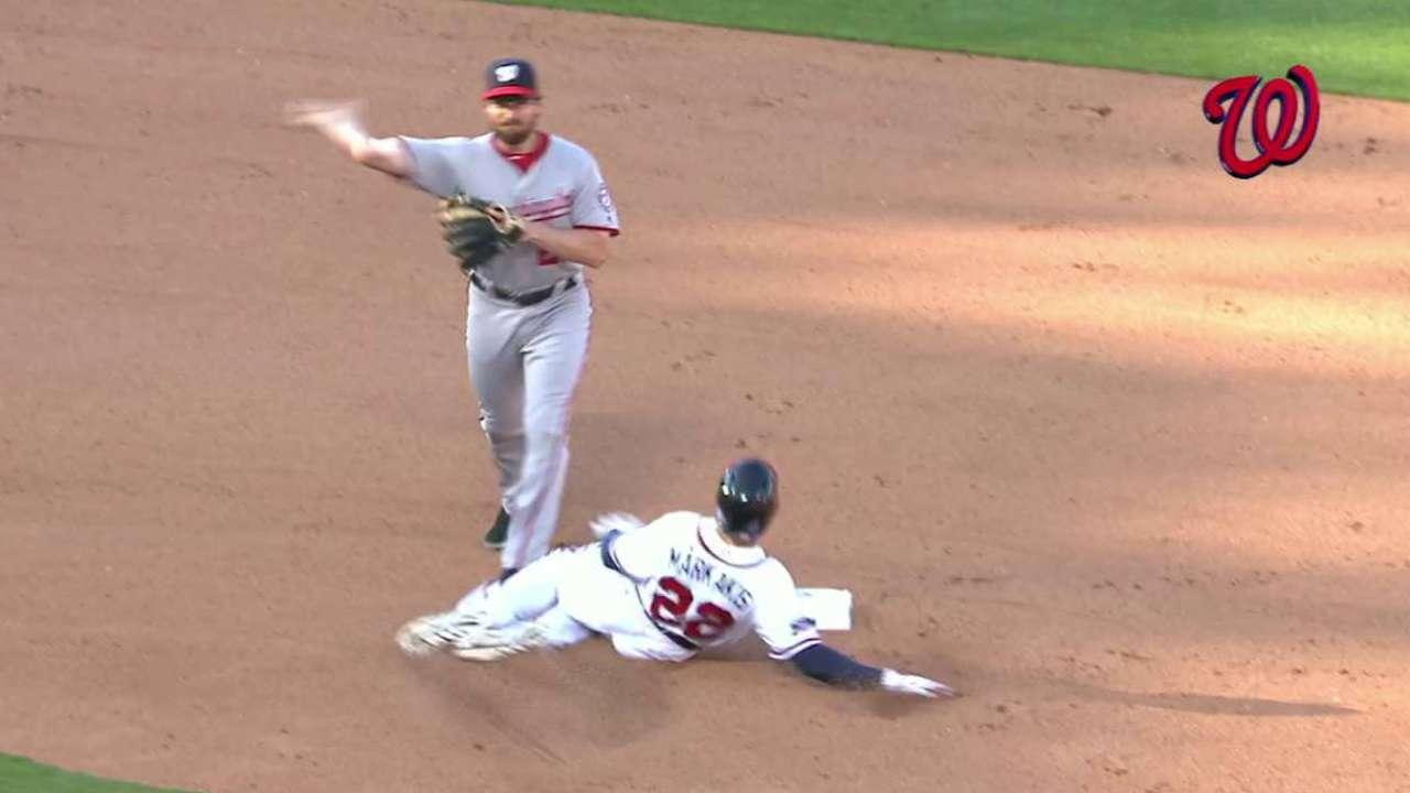Markakis, Braves adjusting to slide rule