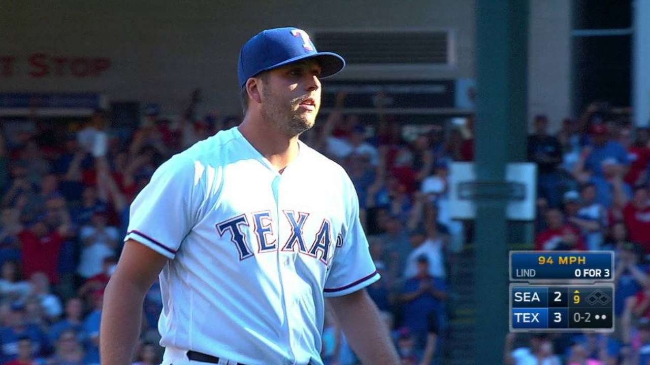 Nothing comes easy for Rangers in 1-hit win