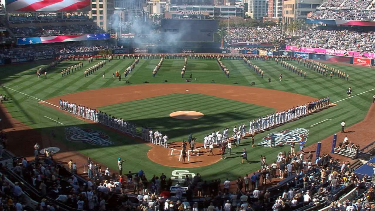 Padres' opening ceremonies have fans abuzz