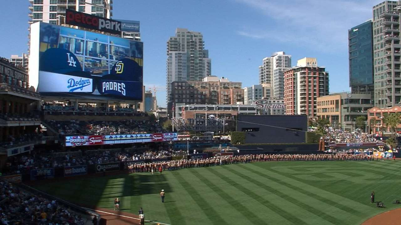 Dodgers get introduced