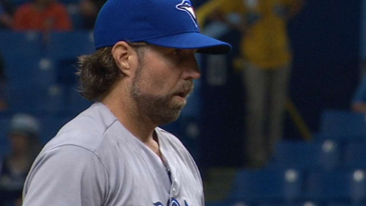 Dickey earns win on Opening Day