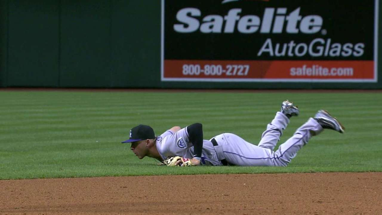 Story's diving catch