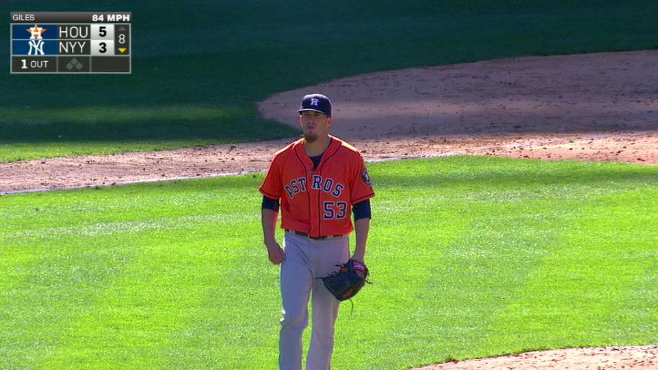 Giles' first K with Astros