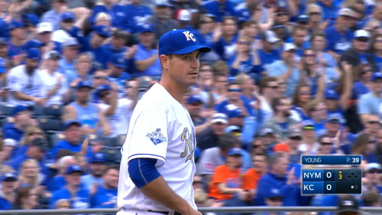 Young's professionalism not lost on Royals