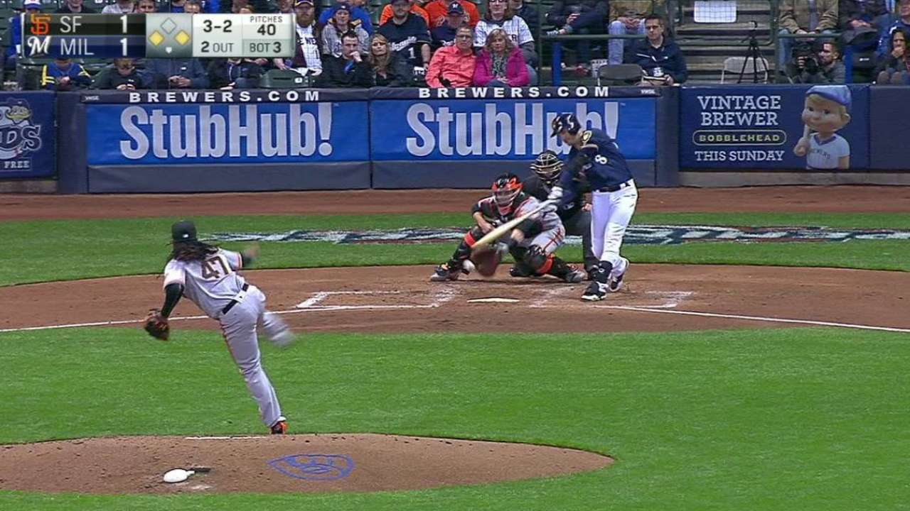 Cueto's first K with Giants