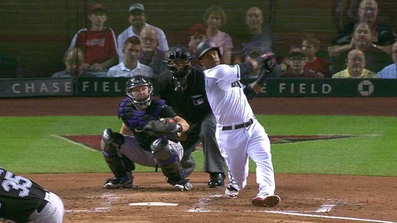 Segura's homer to left-center