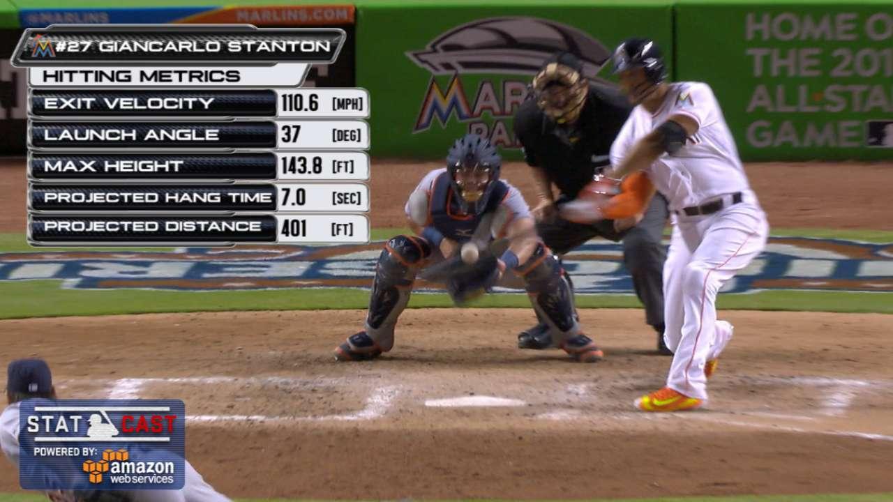 Statcast: Stanton's deep homer