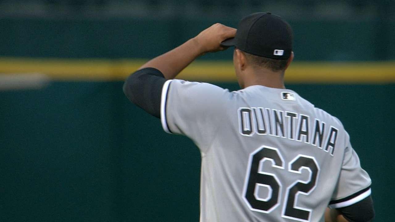 Quintana strikes out seven