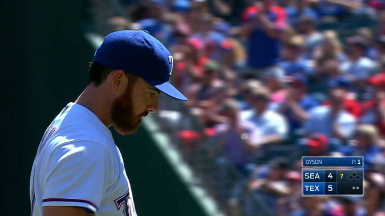 Dyson strands the bases loaded