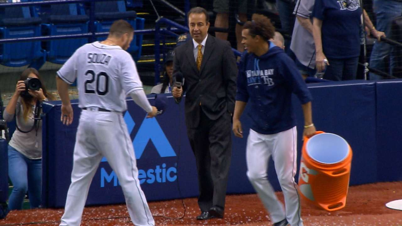 Souza Jr. on win, gets drenched