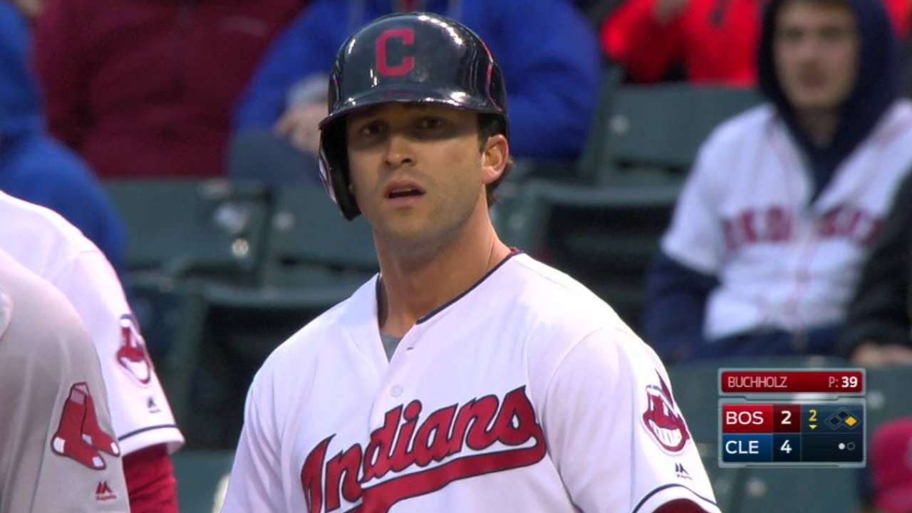 Naquin's first career hit