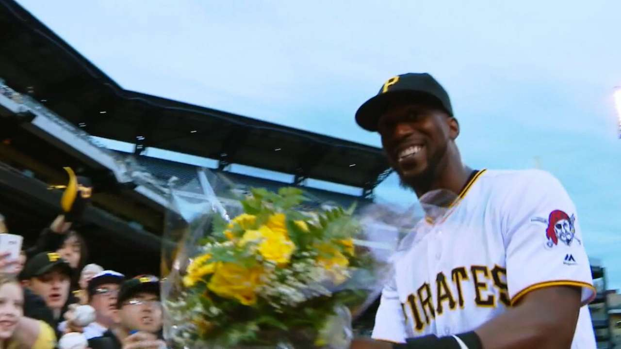 Cutch receives flowers from fan