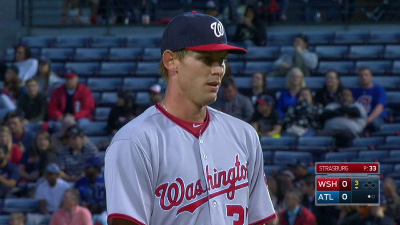Strasburg breaks Nats record