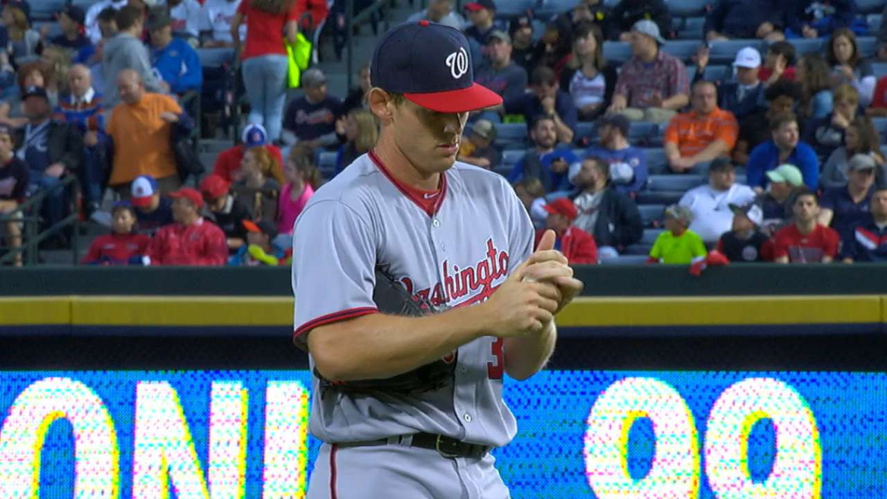 Strasburg sets Nationals' strikeout record