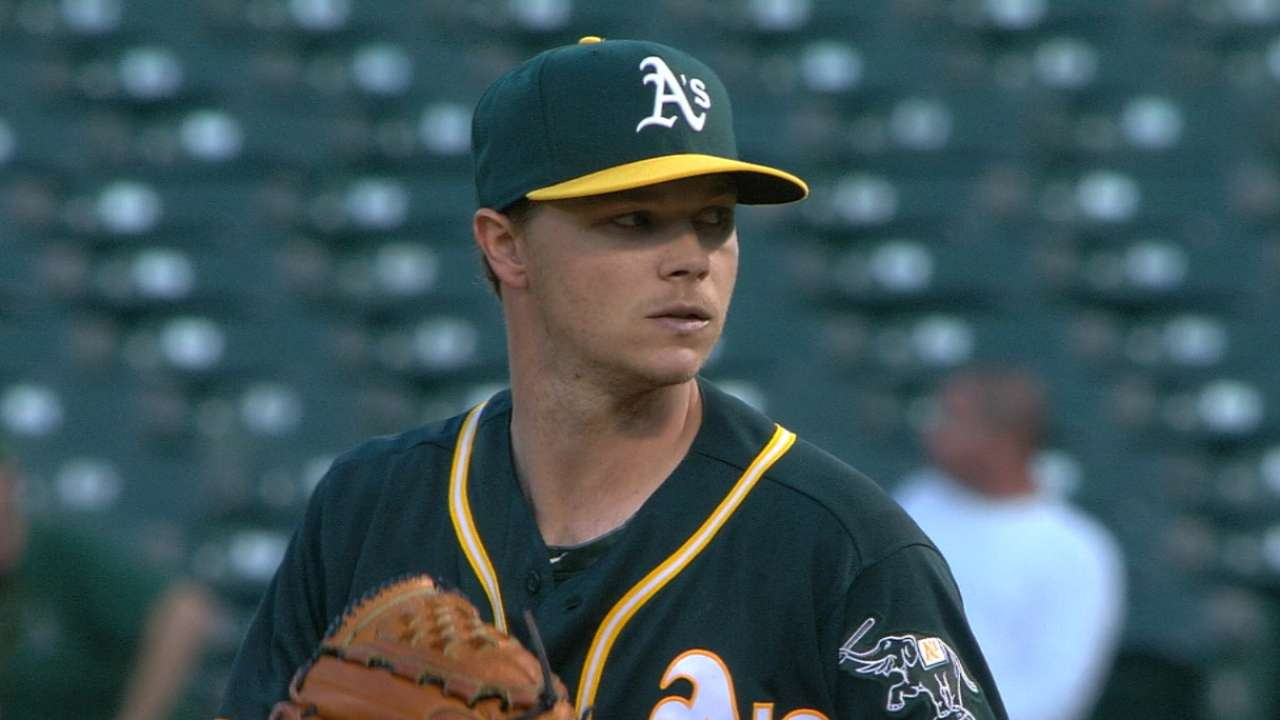 Gray outduels Rodon for A's first win