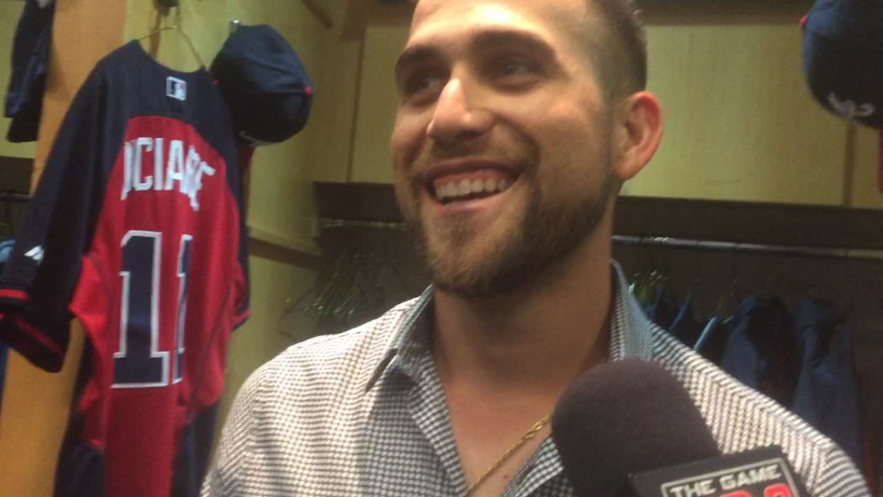 Inciarte happy to see his former teammates