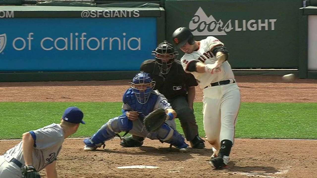 Posey's RBI double to left