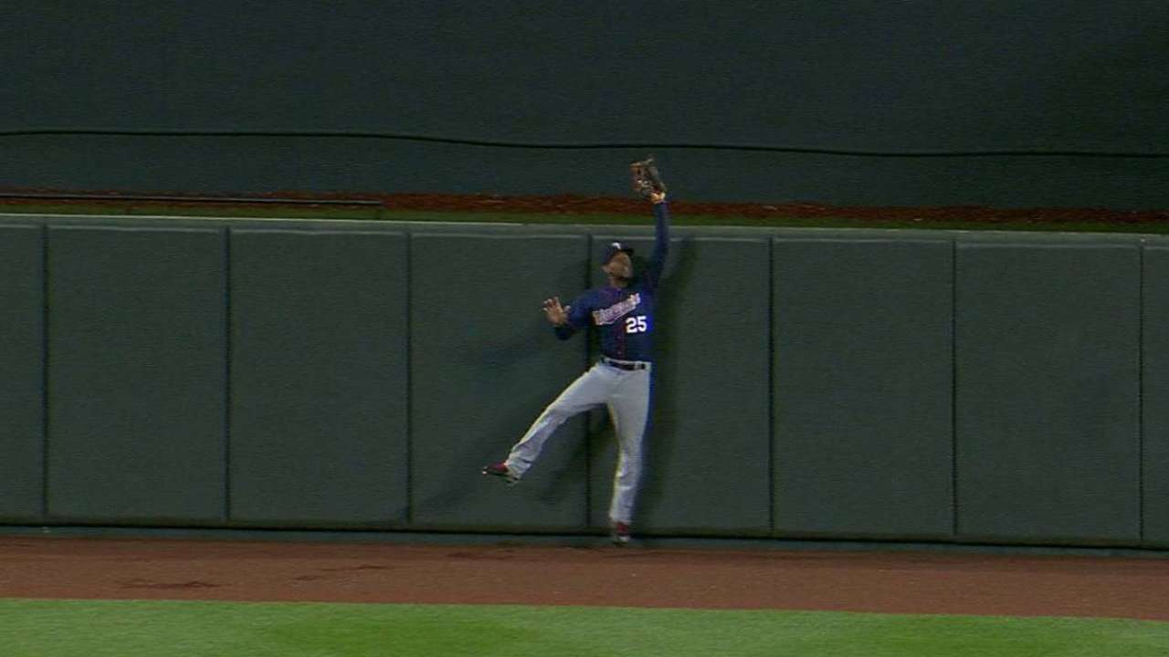 Buxton's leaping grab