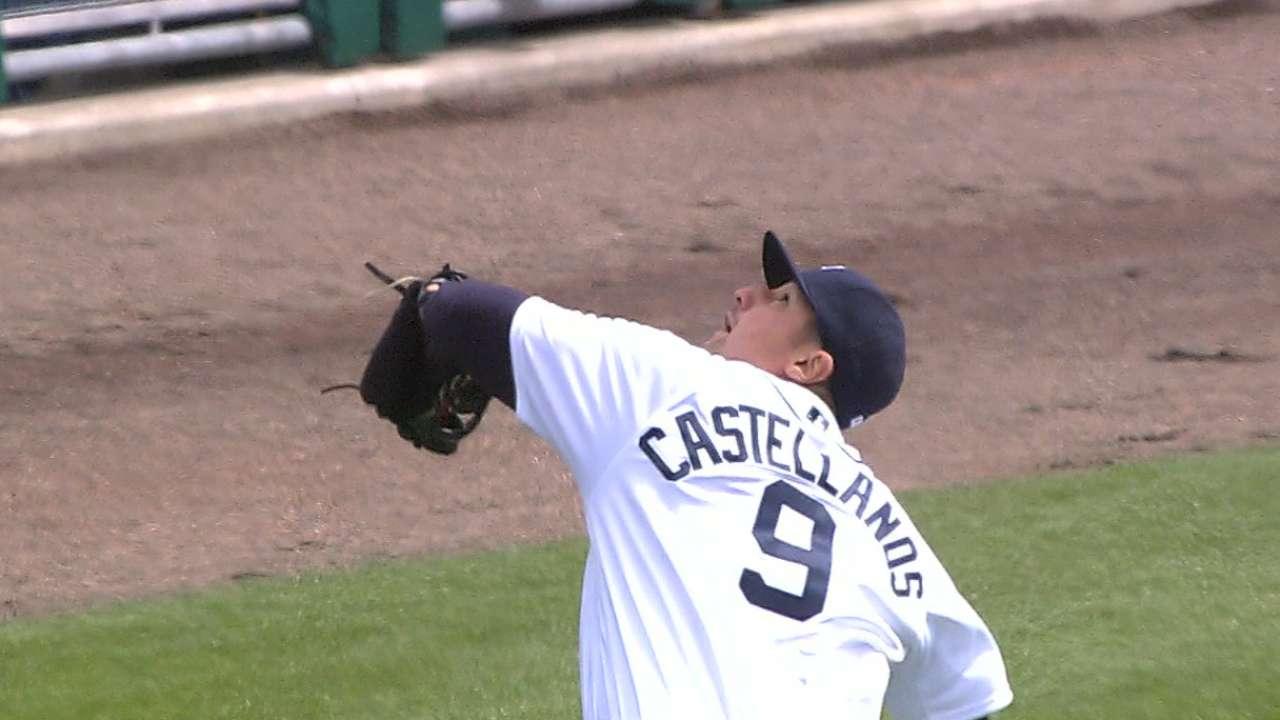 Castellanos' nice catch