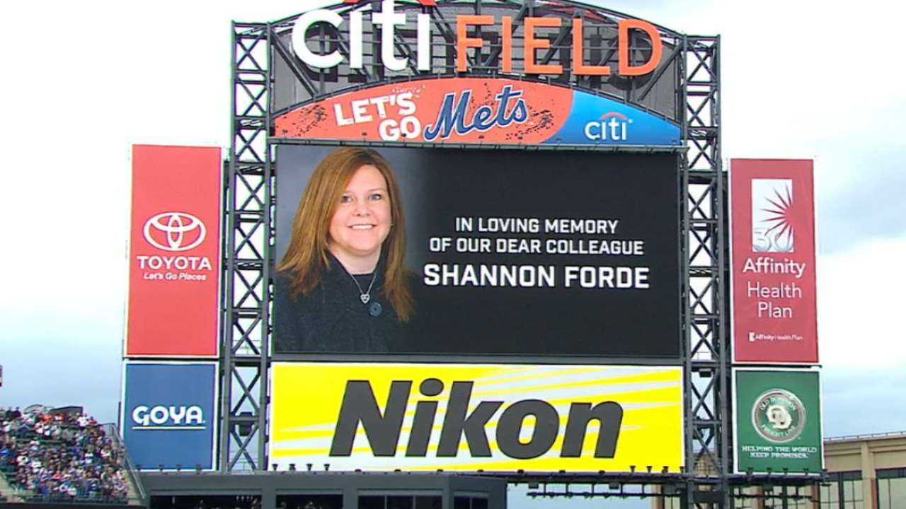 Mets honor Shannon Forde