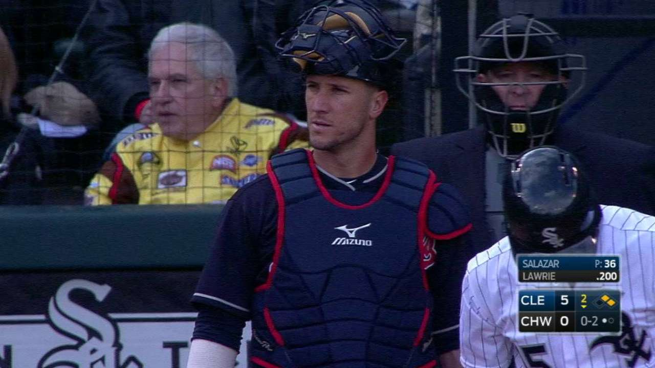 Gomes nabs Garcia at first