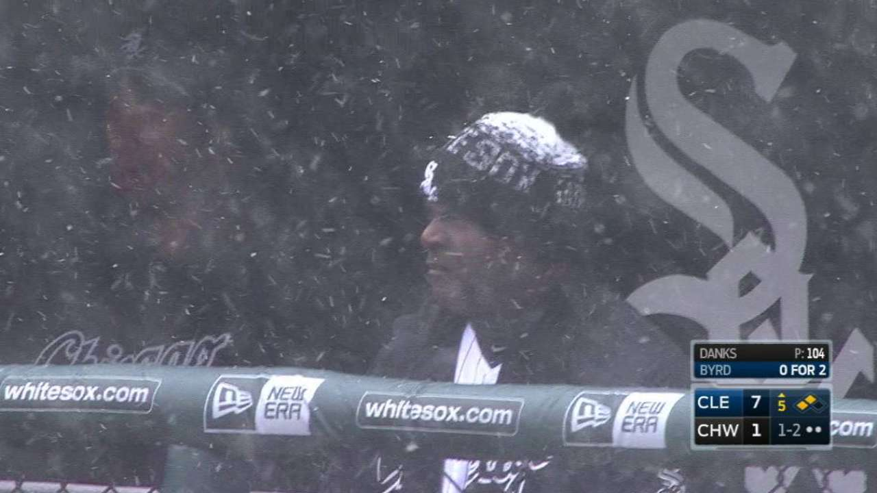 Fans, players endure the snow