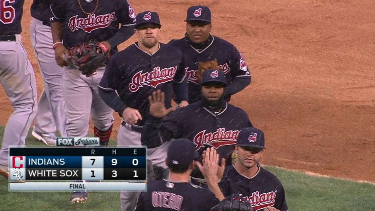 Tribe strikes early, spoils White Sox home opener