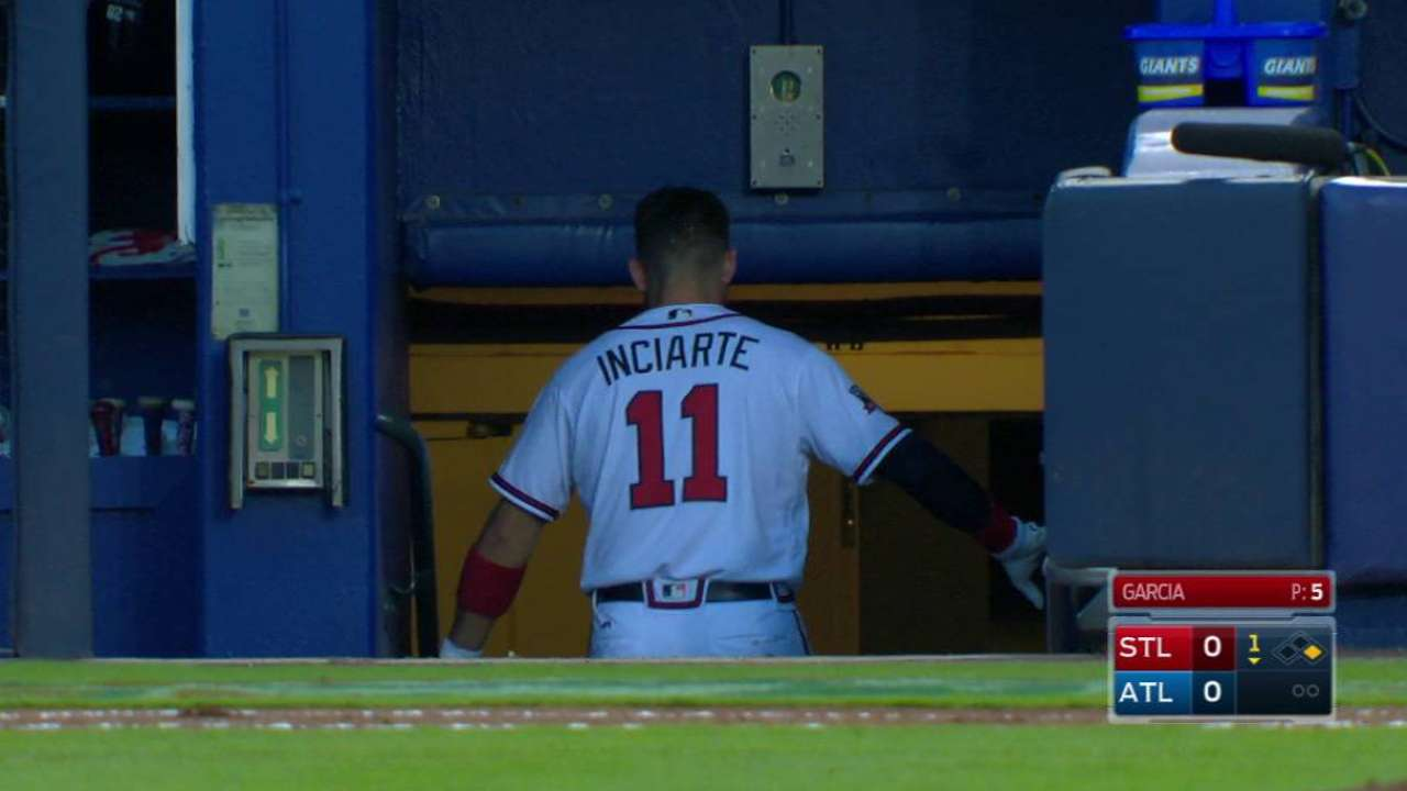 What does Inciarte return mean for Smith?