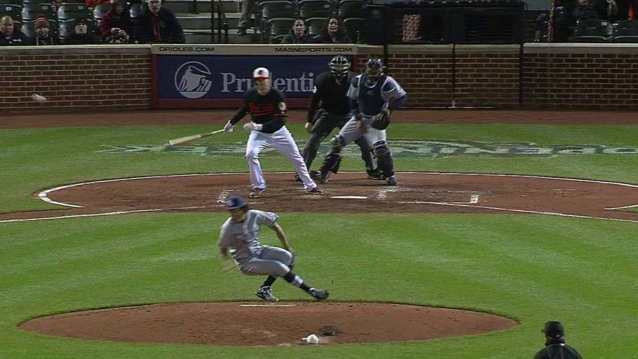 Wieters' hit deflects off Archer