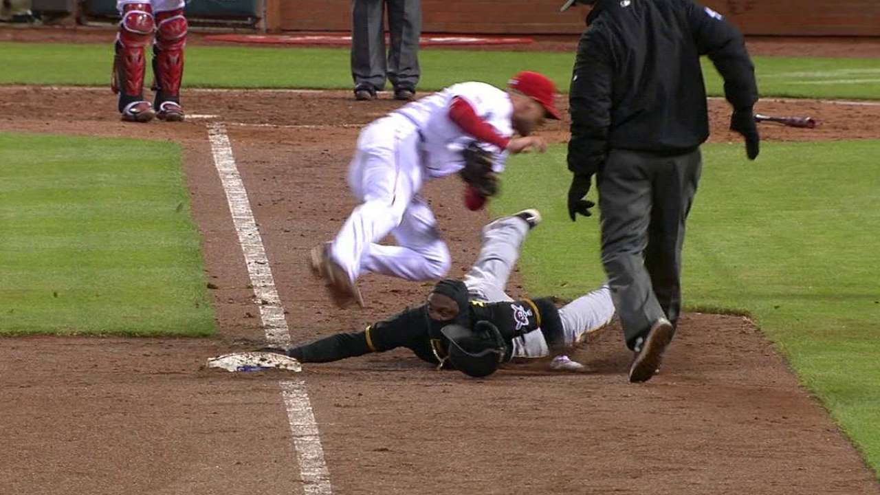 Cozart catches Marte off third