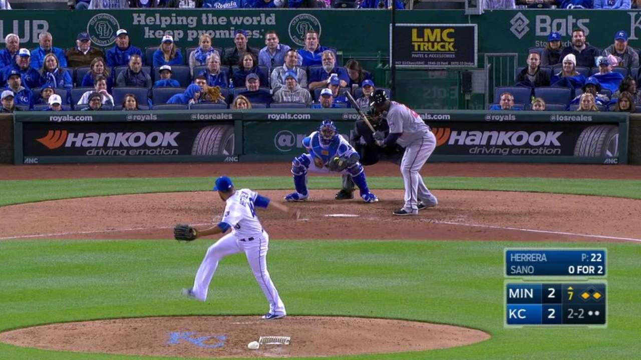 Herrera's big strikeout