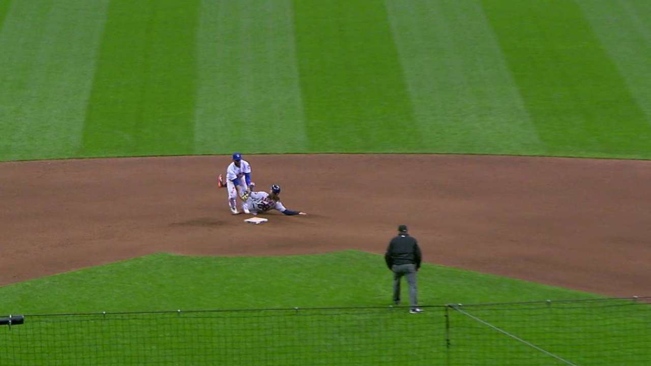 Brewers' double play ends game