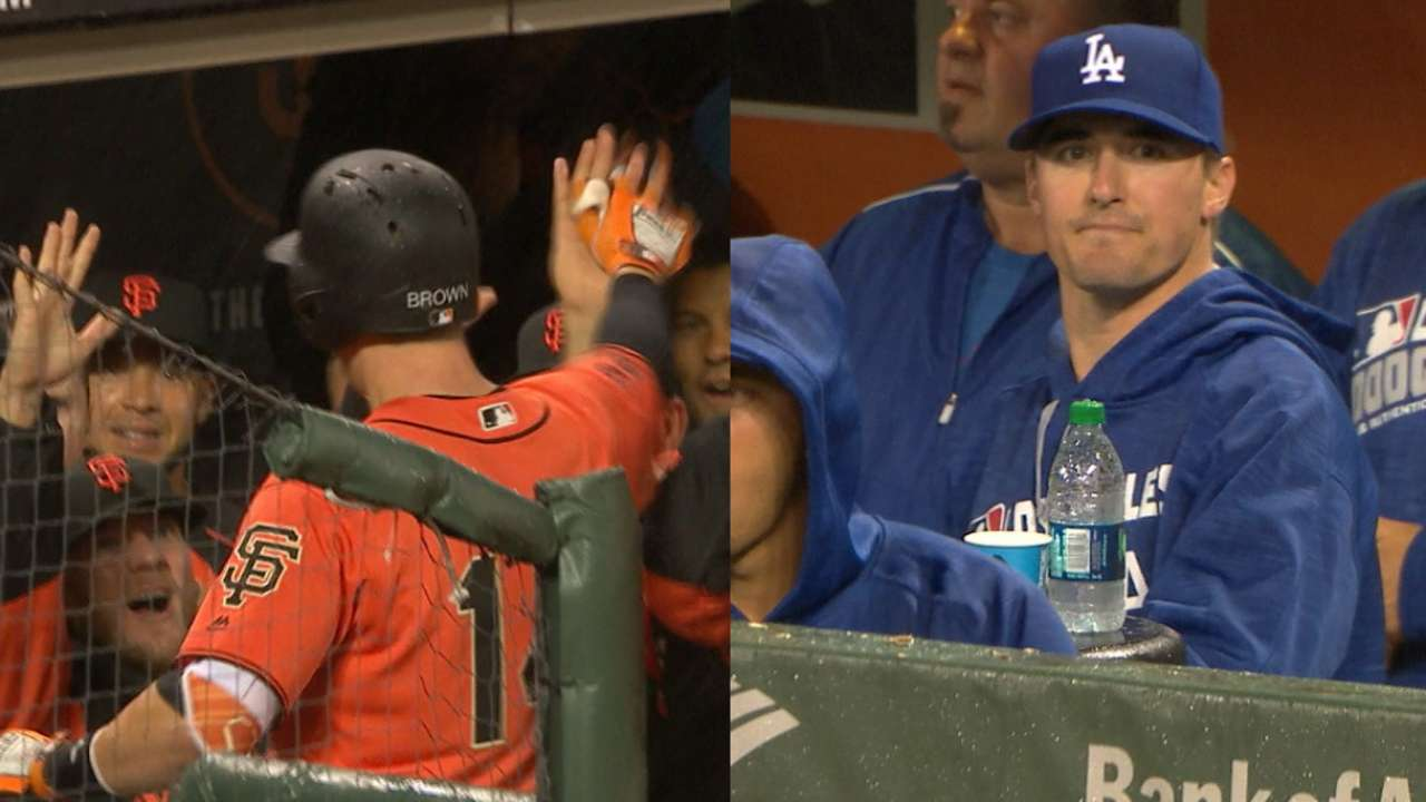Brown's first homer a curtain-call moment