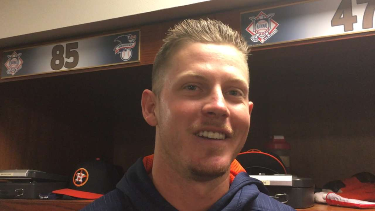 Devenski 'honored' by callup to Astros