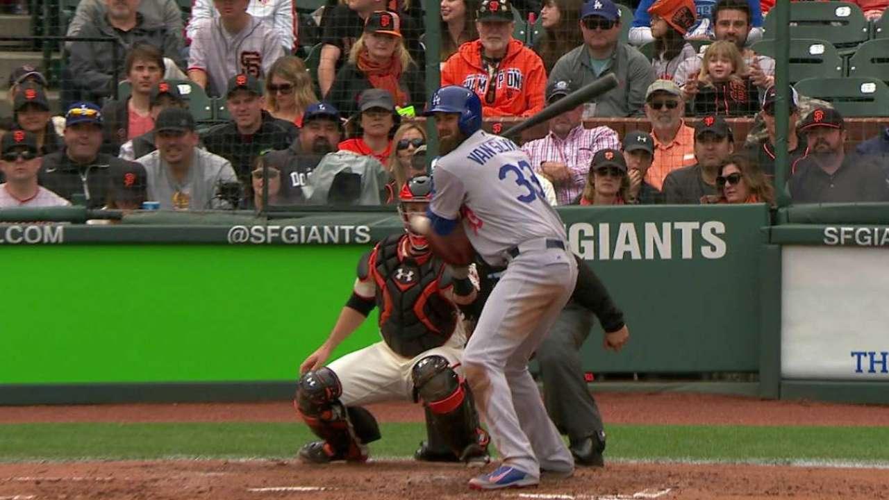 Dodgers tie the game on HBP