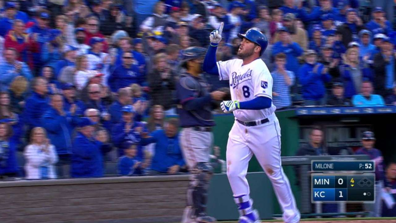 Royals like Moose's approach in No. 2 spot
