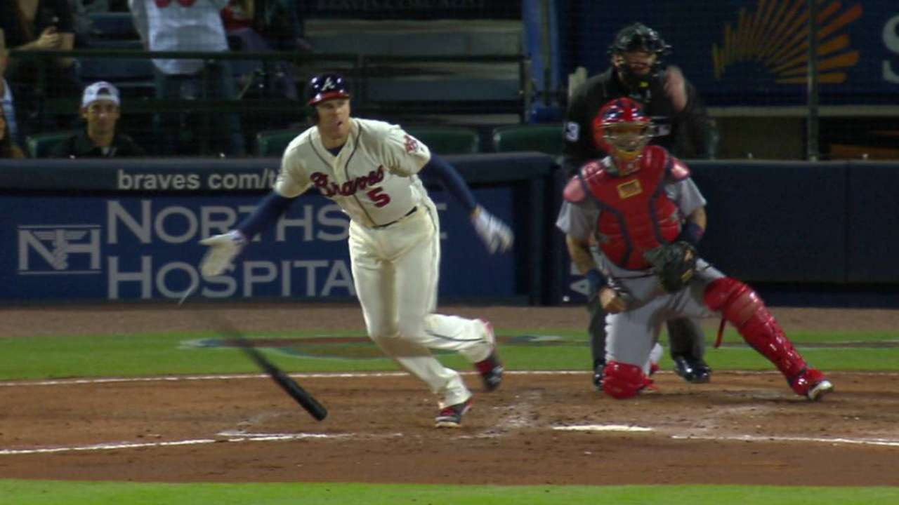 Slumping Freeman doesn't play against Nats