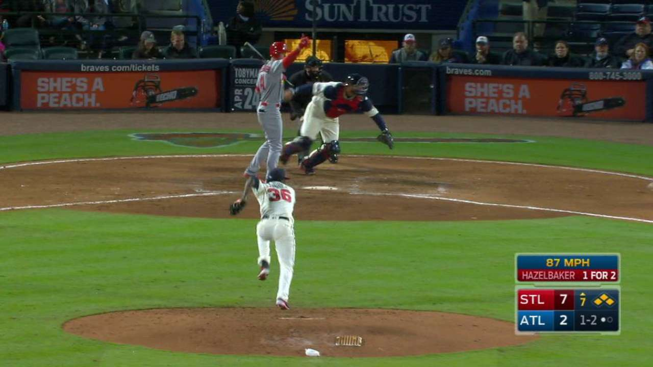 Wong scores on a wild pitch