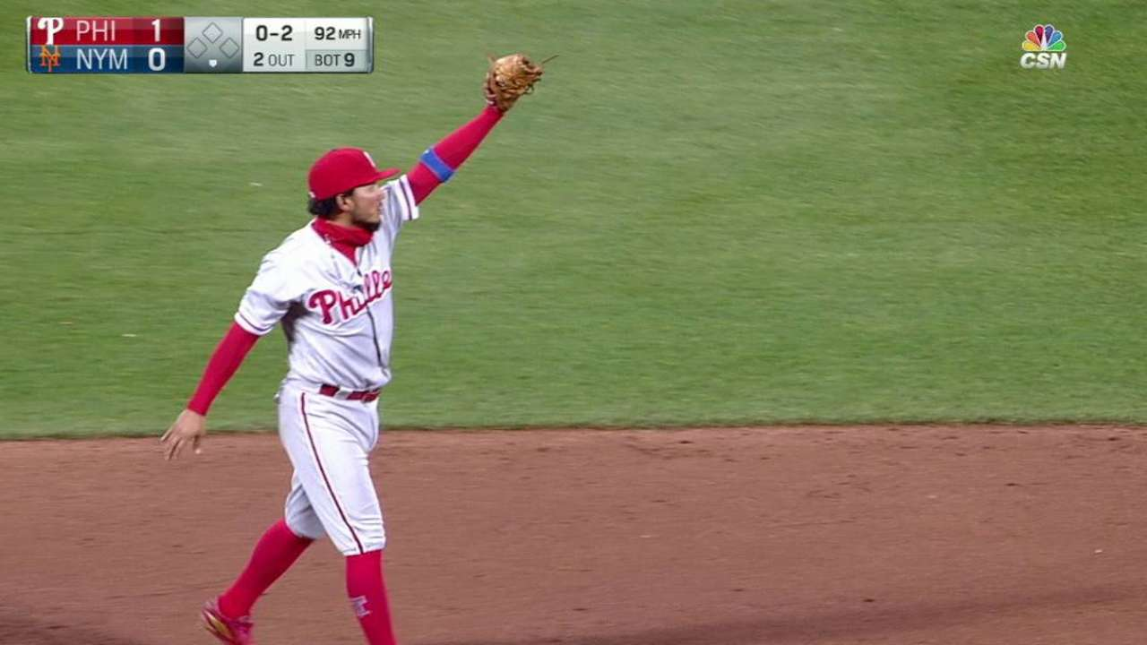 Gomez records the save