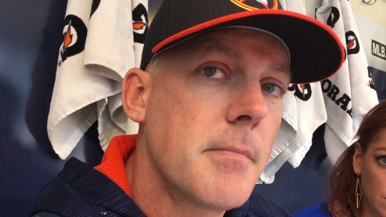 Hinch discusses slide rule with MLB brass
