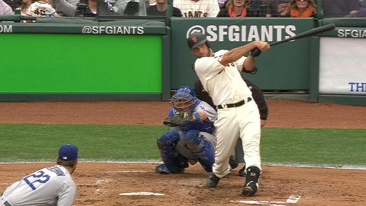 Bochy liking results of unusual batting order